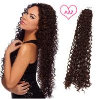 100gram / piece Freetress onda capelli sintetici intrecciare capelli di estensione 18inch nero, capelli rinfusa marrone trecce crochet all'ingrosso libero treccia