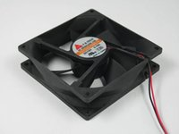 Y.S.TECH FD129225MB-N DC 12V 0.16A 2 선 2 핀 커넥터 80mm 90x90x25mm 서버 스퀘어 냉각 팬