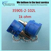 Atacado-10pcs / Lot 3590S-2-102L 3590S 1K ohm precisão Multiturn Potenciômetro 10 Anel Resistor ajustável
