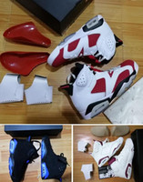 Wholesale Basketball Shoes VI 6 CARMINE UNC 6S OG MAROON 6 H...