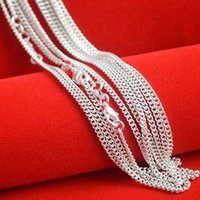 Hot sale 925 silver chain necklace with 16- 24 inch silver ne...