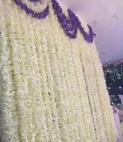 "80 ""(200CM) مستلزمات سوبر طويل الاصطناعي زهرة الحرير الكوبية جارلاند الوستارية لحديقة المنزل مناسبات الزفاف 8 الألوان المتوفرة"