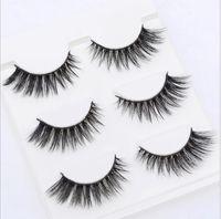 Seksi 100% El Yapımı 3D vizon saç Güzellik Kalın Uzun Yanlış Vizon Kirpik Sahte Göz Lashes Kirpik