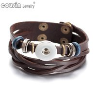 New Arrivals Dark Brown cheaper leather Bracelet&bangle Fit ...