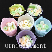 8 Colors- - 24pcs lot individuation Mini colorized plastic buc...