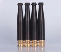 Den nya Mini Ebony Ebony Wood Rod Trumpet munstycke släta filter rörbeslag