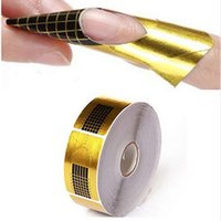 Golden Paper Double Thick Nail Form Professional Nail Art Fo...