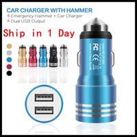 A+ Quality 1000mA Car Chargers Metal Dual USB Chargers Ports...