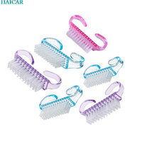 Wholesale- New!6 PCS Nail Art Cleaning Brush After File Mani...
