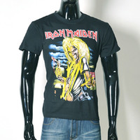 Halloween Fashion Streetwear Iron Maiden Tod Skeleton Männer 3D T-Shirt schwarz Schädel Kurzarm Kleidung T-Shirt O Hals Tops BMTX30 F