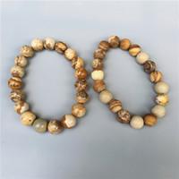 10 мм картина яшма бисер браслет, эластичный браслет, драгоценный камень браслет, Браслет из бисера, матовый или полированный камень бусины