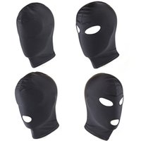 BDSM Fetish Sex Mask Hood Sexy Toys - Open Mouth Bondage Party Máscara Cosplay Slave Castigar Headgear Máscara - Juego adulto Productos del sexo