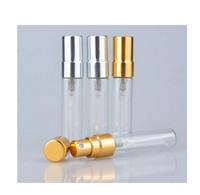 2017 Novo 5 ml Mini Portátil de Vidro Frascos de Spray de Perfume Atomizador Recarregável Vazio Recipientes Cosméticos Para Viagens