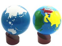 New Montessori teaching aids color globes land and water glo...