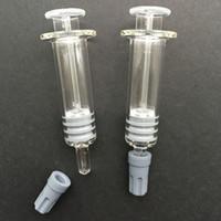 500 pz / lotto 1 ML Luer Lock Vetro Siringa punta di vetro Per WAX Cartuccia di Olio cartuccia di vetro olio denso Serbatoio di Colore Chiaro DHL LIBERA il Trasporto