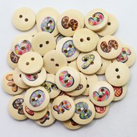 Wholesale Acces 100pcs 15mm White and Natural Wooden Letter ...