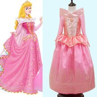 Pink Sleeping Beauty Princess Dresses Aurora Party Dresses C...