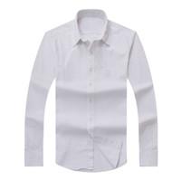 2017 новых осенью Мужская футболка с длинным рукавом хлопок рубашки поло людей вскользь Твердая Regular подходят для мужчин рубашки способа Бесплатная доставка