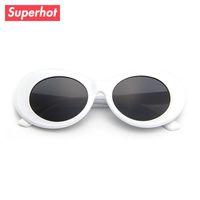 9e2b73457 Gafas de sol retro vintage blanco gafas de sol ovaladas hombres mujeres  gafas de sol NIRVANA