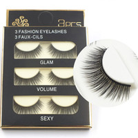 3D eyelashes 3 Pairs lot Sexy 100% Handmade Thick Long False...
