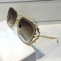 Luxus 59 Frauen Designer Sonnenbrille Mode Diamant Stein UV-Schutzlaser Beschichtung Spiegellinse rahmenlos farbüberzogener Rahmen kommen mit Box