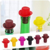 Hat Shape Silicone Wine Bottle Stopper Preservation Wine bot...