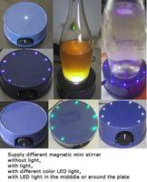 Magnetische Mini Stirrer Platte mit LED-Licht, Mischen von Wein 1000 ml, Rühren 0-2000 RPM, kostenloser Versand