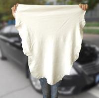 45 * 55 cm Espessamento camurça Toalha de camurça de pele de carneiro absorvente de resíduos absorvente Grande lavagem de carro toalha de limpeza toalha de pele de carneiro de couro genuíno natural