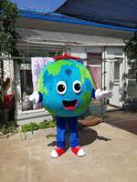 Hot Haute Qualité vraie Images Deluxe The Earth Mascotte Costume Fantaisie Costume Carnaval Livraison Gratuite