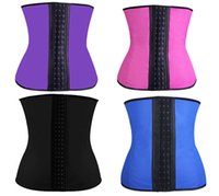 XS-3XL 4 Couleurs Femmes Latex Caoutchouc Cintre Formation Cincher Underbust Corset Body Shaperwear Shapewear DHL Free
