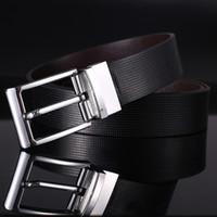 Cintura uomo in vera pelle con fibbia in pelle di vacchetta Rotazione in pelle di alta qualità da uomo Business Casual Pantaloni Cinture