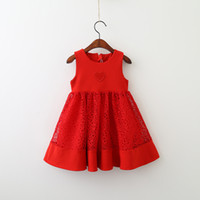 Girls Red Christmas Dress 2017 Baby Girl Lace Party Dress Ki...