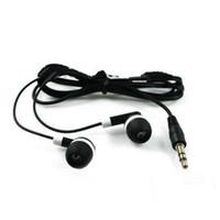 Großhandel - Neuer universeller schwarzer Kopfhörer 3.5mm Earmud-Kopfhörer für MP3 MP4 PSP-Spieler Freies Schiff