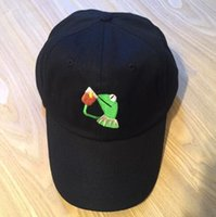 Kermit Tea Hat The Frog Sipping Drinking Tea Baseball Dad Vi...