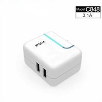 5V3.1A 듀얼 포트 유니버설 USB 충전기 여행 벽 충전기 어댑터 휴대용 US 플러그 스마트 휴대 전화 USB 충전기 아이폰 타블렛