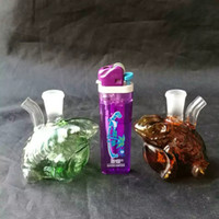 Multicolor Frog Hookah Glass Bongs Accessories   , Glass Smo...