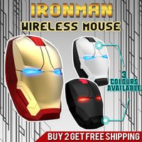 Popolare Iron Man Light Mouse E-blu Ergonomic Silent Gaming Mouse 2.4G Cool Light-Emitting occhi Wireless Mouse USB per computer portatili Computer Gamer