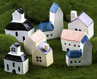 20 ensembles gratuits shiping 4options 4 couleurs minuscule châteaux fée décoratif bricolage jardin et bureau à domicile résine artificielle miniatures accessoire de maison