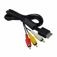500pcs mucho Cable de audio y video AV a RCA para PlayStation para PS3 para Sony aguja completa