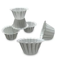 1000 unids / set filtros de café blanco Papel de porción única para máquina de café Papel de filtro blanco Taza de pastel Taza de papel de café