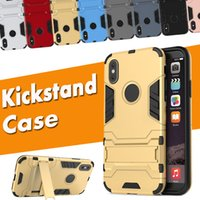 2 in 1 Kickstand Iron Man Stand Holder Shockproof Rugged Arm...