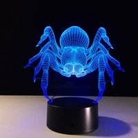 2017 Spider 3D Illusion Night Lamp 3D Optical Lamp AA Batter...