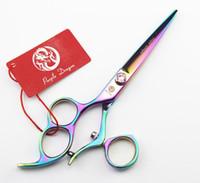 горячие продать левой рукой профессиональные ножницы для стрижки волос 180 поворотная ручка 6 дюймов из нержавеющей стали 3 отверстия для пальцев простая упаковка новый