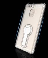 هواوي p9 / plus الهاتف المحمول قذيفة كم واقية الهاتف المحمول شفافة مع قوس الدورية 360 درجة