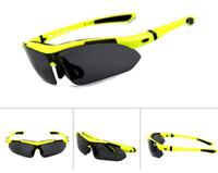 2020 Polarisierende Glasmens-Sport-Riding-Sonnenbrille-Männer Sonnenbrille-Frauen-Designer Sunglass Wind Proof Außensportbrillen 5 Objektiv UV400