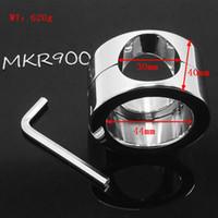 Acciaio inossidabile Palla Peso Scroto Anello pene testicolo Dispositivo di ritenuta Prodotti sessuali per adulti 620g Ball Barella MKR900