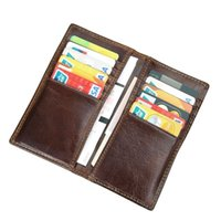 Mens Womens RFID Blocking Excellent Cow Leather Check Wallet...