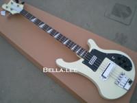 Белый цвет 4 строки бас-гитара,OEM ручной китайский бас - гитара,бесплатная доставка