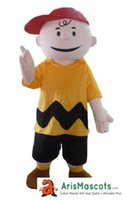Funny Charlie Brown mascot costume for birthday party cartoo...