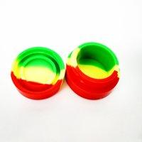 En gros Mixte Couleurs 3 ml 5 ml antiadhésif Silicone Jar Dab Wax Container Pour Wax Silicone Bocaux Concentré Cas pour la Cire